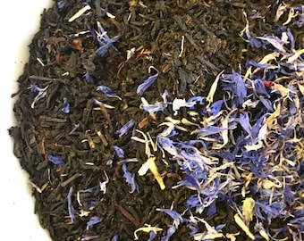 Royal Earl Grey | Cream Earl Grey | Vanilla Beans + Vanilla Beans + Cornflowers | Black Tea | Organic Whole Leaf Tea