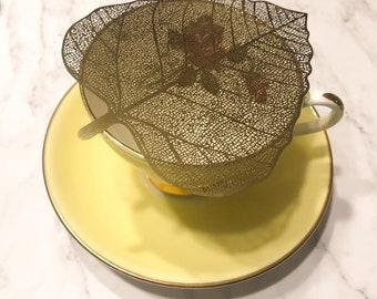 Gold Leaf - Tea Strainer | Tea Filter for Loose Leaf Tea | Tea Infuser |  Stainless Steel | Tea Gift | Infuser Reusable Strainer | Tealover