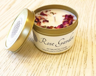 Soy Candle | Hand-Poured Soy Candle | Scented Candle | Gold Tin | Travel Candle | Favor | Bridal | Bridesmaid Gift
