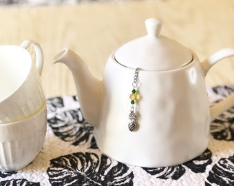 """Tea infuser """"Pineapple"""" Tea Ball / Tea Lover's Gift / Fruit lover Gift / Tea Infuser / Charmed Tea Infuser - pineapple Themed Gift"""