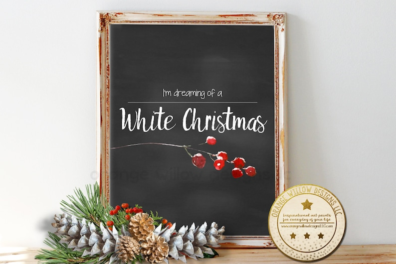White Christmas Christmas printable dreaming of a white image 0