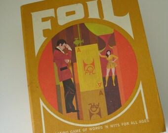 "Raro Vintage 1970 3M, Minnesota ""Foil"" Word Scramble gioco di carta/cartone"