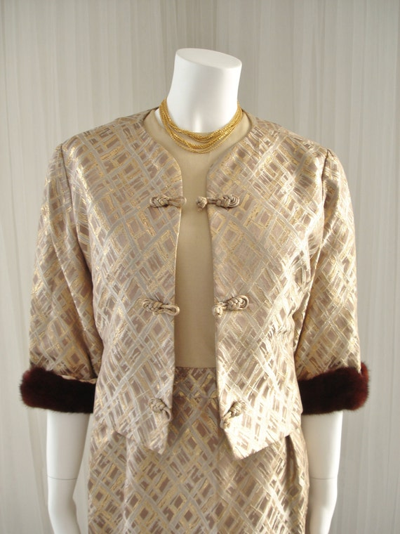 Mid Century RAPPI Brocade Mad Men Style Jacket and