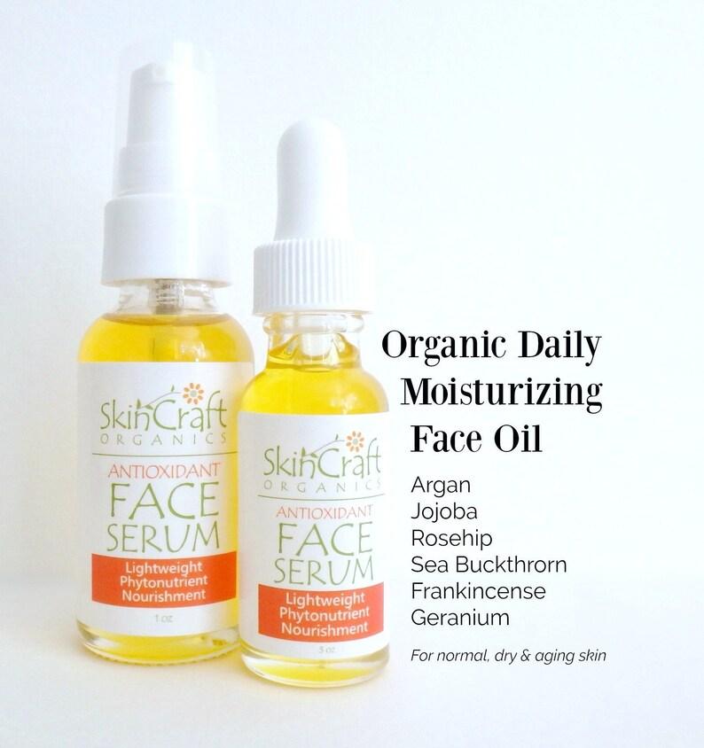 8e55217c55 Organic Face Oil Serum Anti Aging & Dry Skin Moisturizing Oil | Etsy