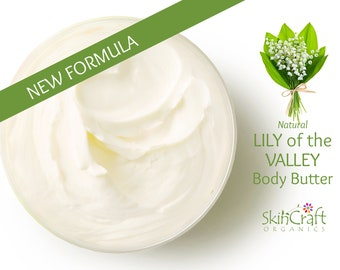 Natural Lily of the Valley Body Butter Cream - Floral Moisturizer Lotion for Dry Skin - Luxurious Shea, Tucuma & Murumuru Butters  - Vegan
