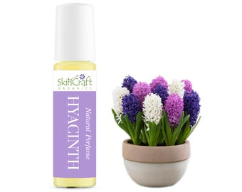 Hyacinth Perfume - Spring Floral Scent Roll On Fragrance - Beautiful Artisan Perfume Gift for Girlfriend, Wife, Mom  .35 oz / 10 mL