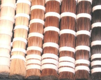 Horsehair available in various colors and lengths.
