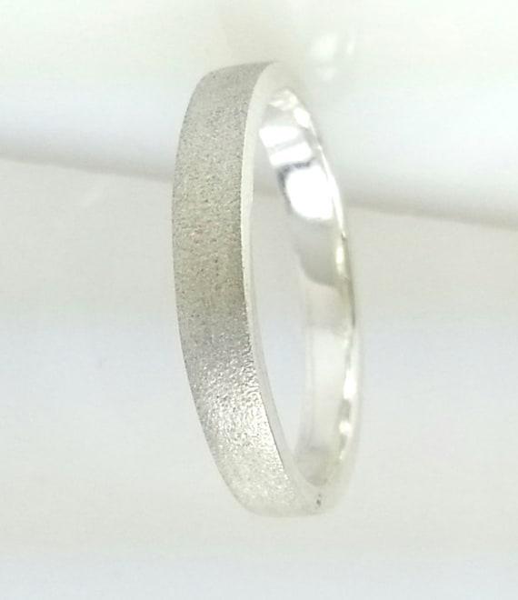 2 mm plata esterlina sólida plana en Forma Anillo De Boda Banda