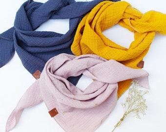 Muslin soft bandana scarf for women, face mask scarf cover, triangle scarf bandana for women, cotton face scarf for women
