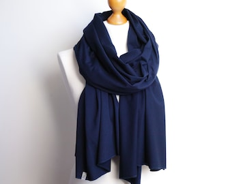 Cotton women scarf NAVY BLUE, lightweight to medium cotton scarf shawl, women scarf, travel scarf wrap, gift for her