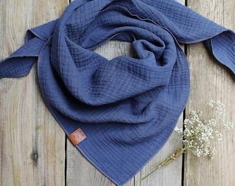 Soft bandana face scarf, bandana for women, triangle scarf bandana for women, girls, light beige cotton face scarf