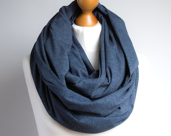 OVERSIZED infinity scarf for women, soft cotton jersey infinity scarf, scarves and wraps