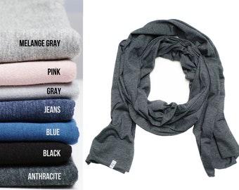 SKINNY cotton shawl wrap, lightweight to medium cotton scarf shawl, women  long skinny sc