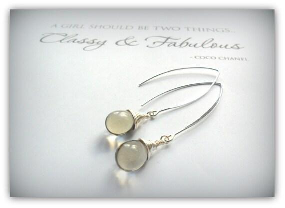 9c1afb48ff90a Teardrop Smokey Grey Pebble Gray Czech Crystal Earrings Silver Wishbone  Earrings Etsy UK Bridesmaid Earrings Glass Tear Drop Earrings
