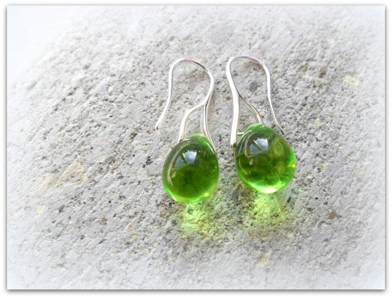 2d7ad8eafc65f Teardrop Light Olive Lime Green Czech Crystal Earrings Teardrop Earrings  Mothers Day Gift Bridesmaid Earrings Etsy UK