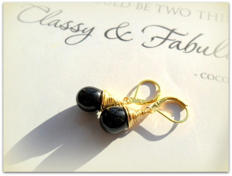 c937586a59a3d Tear Drop Black Opaque Czech Crystal Earrings Lever Back Earrings Etsy UK  Bridesmaid Earrings Glass Teardrop Earrings Mothers Day Gift