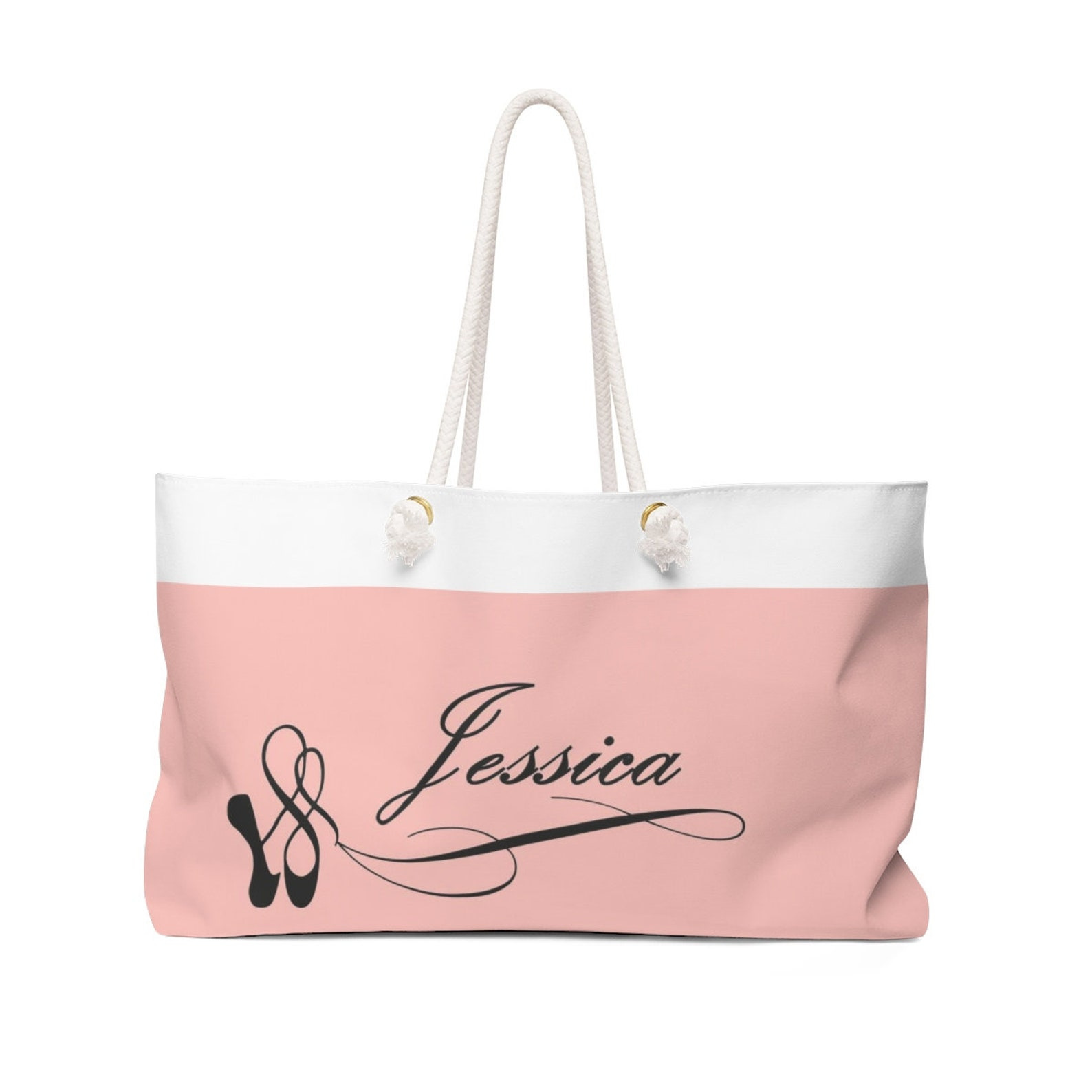 kids #ballet shoes & #personalized #name weekender #gift #tote #bag. free std.shipping in the usa. ships worldwide.