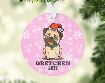 Pug Christmas Ornament, Christmas Ornament, Dog Christmas Ornament, Christmas Gifts