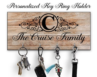 Personalized Key Ring Holder Personalized Key Holder Key Hanger New Home Gift Wedding Gift Housewarming Gift Family Gift  sc 1 st  Etsy & Family gifts | Etsy