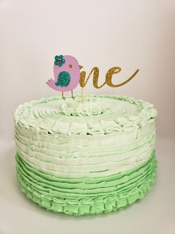 Sensational Bird Cake Topper Glitter 1St Birthday Decor Birdy Etsy Funny Birthday Cards Online Alyptdamsfinfo