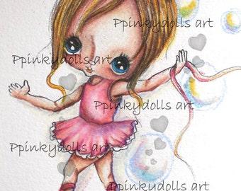 INSTANT DOWNLOAD Digital Digi Stamps..by Chrishanthi's art,Ballerina