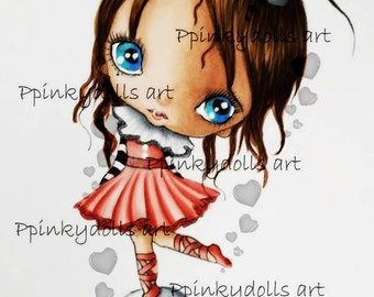 INSTANT DOWNLOAD Digital Digi Stamps..by Chrishanthi's art Circus girl'