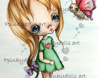 INSTANT DOWNLOAD Digital Digi Stamps..by Chrishanthi's art,How beautiful''