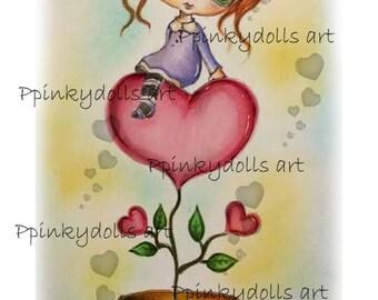INSTANT DOWNLOAD digitale Digi stempels... door Chrishanthi van de kunst, de Love bloem ''