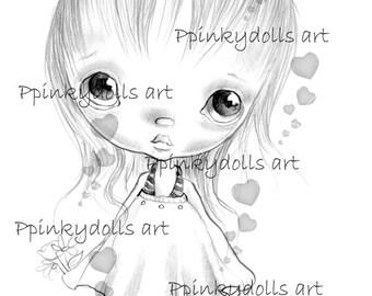 INSTANT DOWNLOAD Digital Digi Stamps..by Chrishanthi's art,My spider''