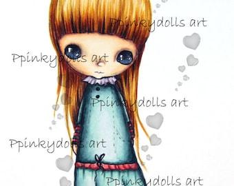 "INSTANT DOWNLOAD Digital Digi Stamps..by Chrishanthi's art,Ghost girl"""