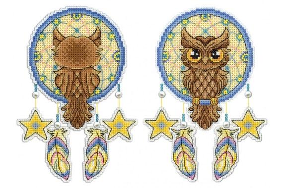 Cross Stitch Kit Birds R-157 on plastic canvas
