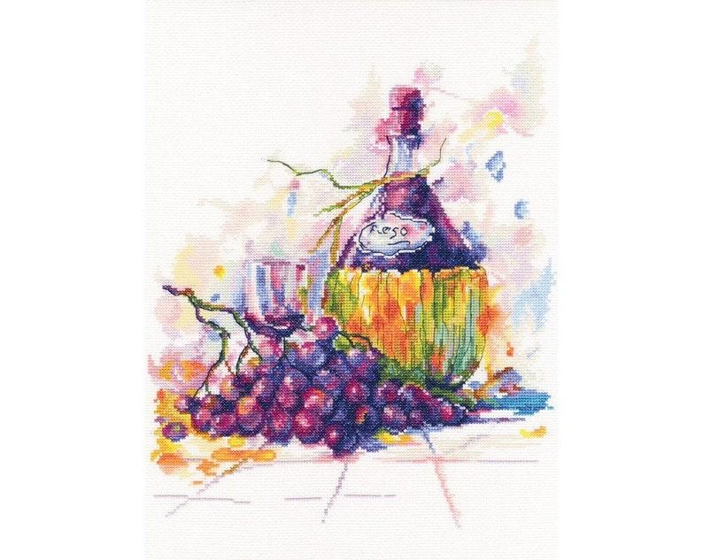 Counted Cross Stitch Kit Grape Wine  M615 by RTO