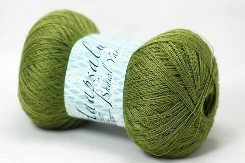 Lace Knitting Yarn. 100/% Wool Green Yarn Haapsalu/_ Shawl Yarn Cobweb Merino Wool Yarn Merino Wool