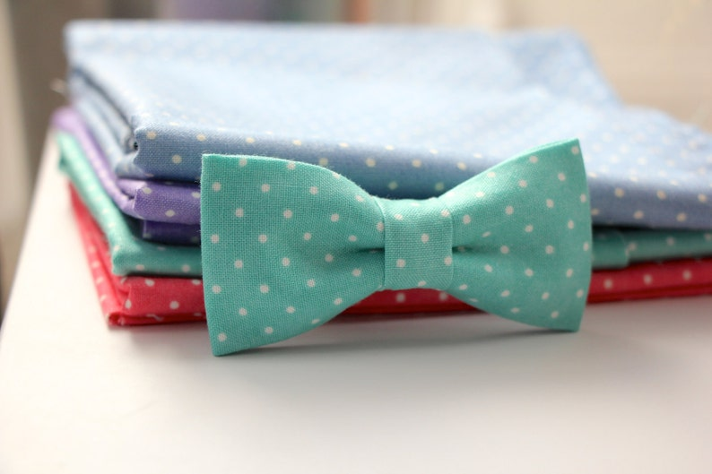 27e37744e0406 Adorable Polkadot Bow ties for Baby up to young Boys - Handmade Bowties -  Choose ONE from 4 options - Choose from 2 sizes - Quality Bow ties