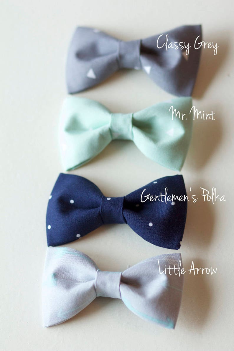 754a439978eb6 Baby to Boy Bow Ties - Handmade Fabric Bowties - NEW fabric trendy patterns  for Babies up to young Boys - Choose ONE from 4 colour options