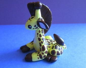 Polymer Clay Giraffe Sculpture // Cute Miniature Giraffe // Mini Giraffe Figurine