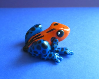 Polymer Clay Poison Dart Frog Sculpture // Cute Frog Figurine // Mini Frog Toy