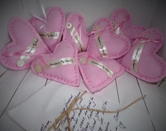 Forever In My Heart Handmade Casket Hearts, Breast Cancer, Message Hearts, Sentimental Casket Decor, Funeral Decor