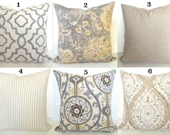 Grey Pillows Decorative Throw Pillows Gray Throw Pillow Cover Etsy