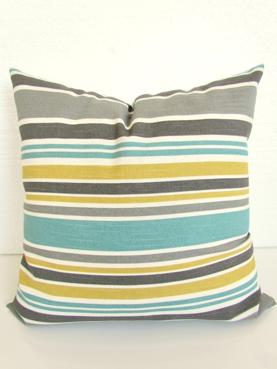 Astonishing Turquoise Pillows Yellow Pillow Covers Teal Throw Pillows Gray Pillow Gold Yellow Throw Pillow Covers 16 18X18 20 Mint Grey Striped Pillows Pdpeps Interior Chair Design Pdpepsorg