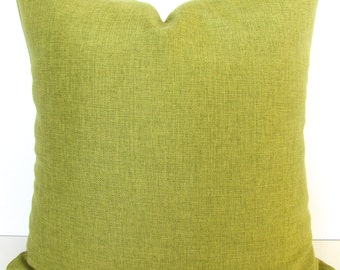 LIME GREEN PILLOWS Solid Green Throw Pillow Covers Citron Green Pillow Covers 16 18x18 20 .All Sizes. Lime  Pillow