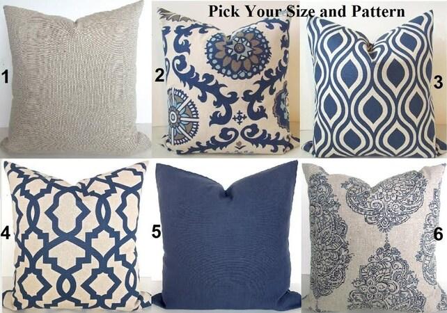BLUE THROW PILLOWS Navy Blue Throw Pillow Covers Dark Blue Etsy Delectable Dark Blue Decorative Pillows