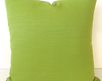 GREEN PILLOWS Solid Green Throw Pillow Covers Citron Green Indoor/Outdoor Throw Pillow Covers 16 18x18 20 .All Sizes. Lime Green Pillow