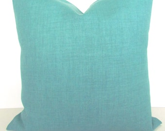 TURQUOISE Pillows Solid TURQUOISE Mint OUTDOOR Throw Pillow Covers Solid Mint Green pillows Covers Blue Outdoor Pillows 16 18x18 20
