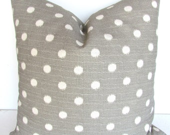 GRAY PILLOWS Grey Throw Pillow Covers Gray ikat Decorative Throw pillows 14x14 Grey Polka Dot Pillow Covers Home and Living Home Decor