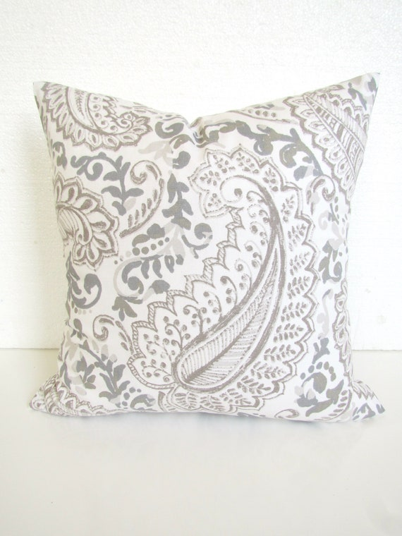 Gray Pillow Gray Throw Pillows French Gray Tan Pillow Covers Etsy