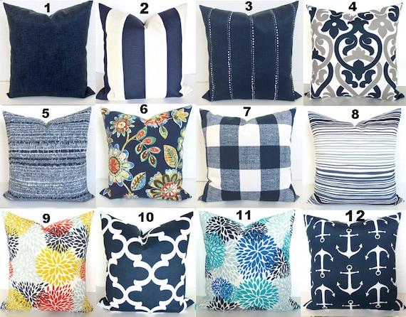 Blue Outdoor Pillow Covers Navy, Outdoor Blue Pillows