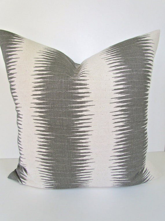 GRAY PILLOWS Grey Throw Pillow Covers Gray Pillow Striped Gray Etsy Enchanting Etsy Decorative Throw Pillows