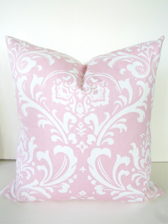pink pillows pink throw pillows light pink pillow covers 16 18 etsy. Black Bedroom Furniture Sets. Home Design Ideas