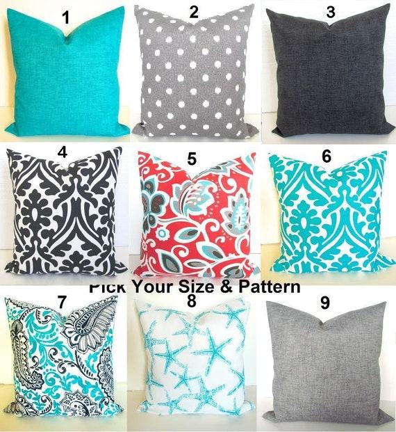 coral outdoor pillows blue throw pillows grey throw pillow etsy